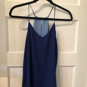 Reversible blue tank top